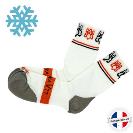 Chaussette VTT hiver spécial froid en fibre Thermogawa et fil carbone