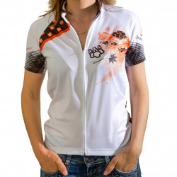 Maillot VTT Cross Country Manches courtes - White is the new black